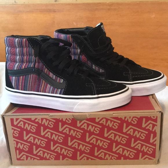 e79b27c878 Vans Shoes - Vans SK8-Hi Guate Weave skate shoe women s 6
